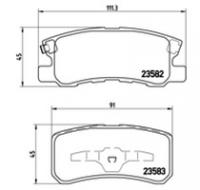 Тормозные колодки задние для Citroen C4 Aircross 2012-...г.в.