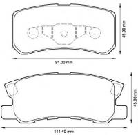 Тормозные колодки задние для Mitsubishi ASX 2010-...г.в.