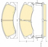 Тормозные колодки передние для Mitsubishi Outlander II 2007-2012 г.в.