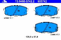 Тормозные колодки передние для KIA Carens II (2002-2006 г.в.)