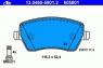 Тормозные колодки передние для Nissan Micra K12, K13 (2002-...)