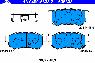 Тормозные колодки задние для KIA Sportage II (2004-2010; 2009-...г.в. сборка в Калининграде)