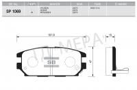 Тормозные колодки задние для Mitsubishi Pajero II 1991-1999 г.в.