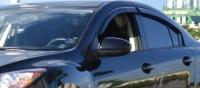 Дефлекторы окон (ветровики) для Mazda 3 (2009-... г.в.) седан