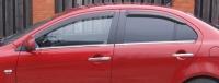 Дефлекторы окон (ветровики) для Mitsubishi Lancer X (2007-... г.в.) / Sportback X (2008- ... г.в.)