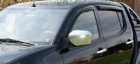 Дефлекторы окон (ветровики) для Mitsubishi L200 (2006-... г.в.)