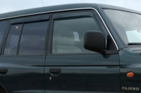 Дефлекторы окон (ветровики) для Mitsubishi Pajero II (1991-1998 г.в.) 5 дверный