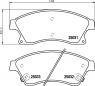 Тормозные колодки передние для Chevrolet Aveo II (T300) (2012-... г.в.)