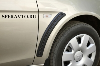 Накладки на передние крылья для Mitsubishi Lancer X 2007-2010 г.в.