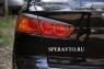 Реснички на задние фонари для Mitsubishi Lancer X 2007-2010 г.в.