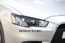 Реснички на передние фары для Mitsubishi Lancer X 2011-...г.в.