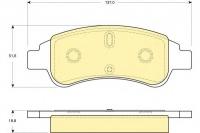 Тормозные колодки передние для Peugeot Partner I (1996-2008 г.в.)