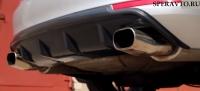 Диффузор на задний бампер для Skoda Octavia 2008-2013 г.в.