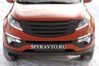 Решётка радиатора (вариант 3 с сеткой) для KIA Sportage 2010-2013; 2014-...г.в.