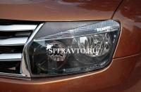 Реснички на передние фары для Renault Duster 2010-...г.в.