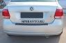 Накладка на бампер задний (верхняя часть) для Volkswagen Polo V 2009-...г.в.