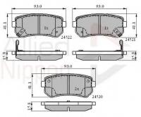 Тормозные колодки задние для Hyundai i30 I (2007-2012)