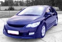 Накладки на пороги (внешние) обвеса Mugen для Honda Civic VIII 2006 - 2008 г.в. седан