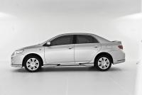 Накладки на пороги (внешние) вариант А для Toyota Corolla 2007-...г.в.