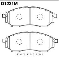 Тормозные колодки передние для Nissan Qashqai+2 (2008-...)