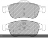 Тормозные колодки передние для Renault Duster (2010-...)