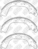 Тормозные колодки задние для Nissan NP300 (D22) (2008-...)