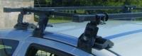 Багажник Amos на Hyundai Accent II 2003 - 2005 г.в. хэтчбек 3-дверный (Dromader D-1 (+3D)