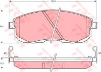 Тормозные колодки передние для Nissan Tiida (2007-...)