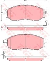 Тормозные колодки передние для Nissan Navara D40 (2005-...)