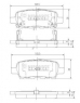 Тормозные колодки задние для Nissan Tiida (2007-...)