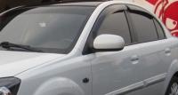 Дефлекторы окон (ветровики) для KIA Rio II (2005-2009 г.в.) седан