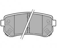 Тормозные колодки задние для KIA Sportage III (2010-...)
