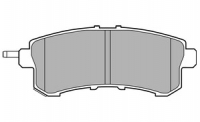 Тормозные колодки задние для Nissan Patrol Y62 (2010-...)