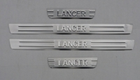 Накладки на пороги для Mitsubishi Lancer IX 2003-2010 г.в. седан