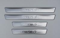 Накладки на пороги для Mazda 6 I 2002-2007 г.в. седан