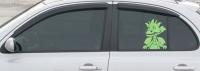 Дефлекторы окон (ветровики) для Nissan Micra (March) (2003-2010 г.в.) 5 дверная