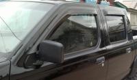 Дефлекторы окон (ветровики) для Nissan NP300/Frontier (2008-... г.в.)