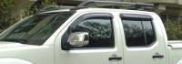 Дефлекторы окон (ветровики) для Nissan Navara III (2005-... г.в.)