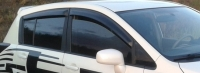 Дефлекторы окон (ветровики) для Nissan Tiida (2004-2011 г.в.) хэтчбек 5 дверный