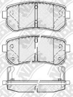 Тормозные колодки задние для KIA Carens II (2002-2006)