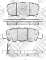 Тормозные колодки задние для Renault Koleos (2008-...)