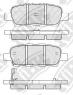 Тормозные колодки задние для Infinity FX35, FX37 и FX45 (2003-...)