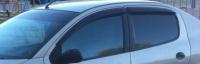 Дефлекторы окон (ветровики) для Peugeot 206 (1998-... г.в.) 5 дверный хэтчбек / (2006-... г.в.) седан