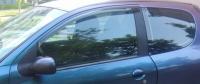 Дефлекторы окон (ветровики) для Peugeot 206 (1998-... г.в.) 3 дверный