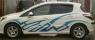 Дефлекторы окон (ветровики) для Peugeot 308 (2007-... г.в.) 5 дверный хэтчбек