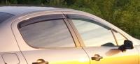 Дефлекторы окон (ветровики) для Peugeot 407 (2004-... г.в.) седан