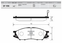 Тормозные колодки передние для Nissan Almera Classic (2006-2013)