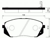 Тормозные колодки передние для KIA Sportage III (2010-...)