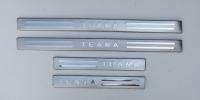Накладки на пороги для Nissan Teana II 2008-...г.в.
