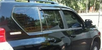 Дефлекторы окон (ветровики) для Toyota Land Cruiser Prado 150 (2009-... г.в.)